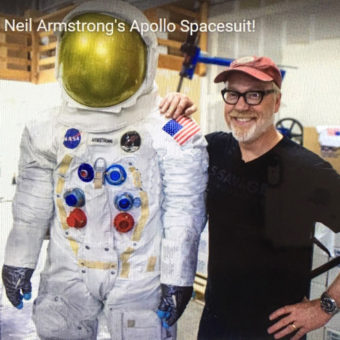 Adam Savage, Armstrong Spacesuit, Apollo at the Park, Paula Slater Sculptor, Life size sculpture, Apollo 11 Spacesuit, Smithsonian Air and Space Musium, Major League Baseball Stadiums